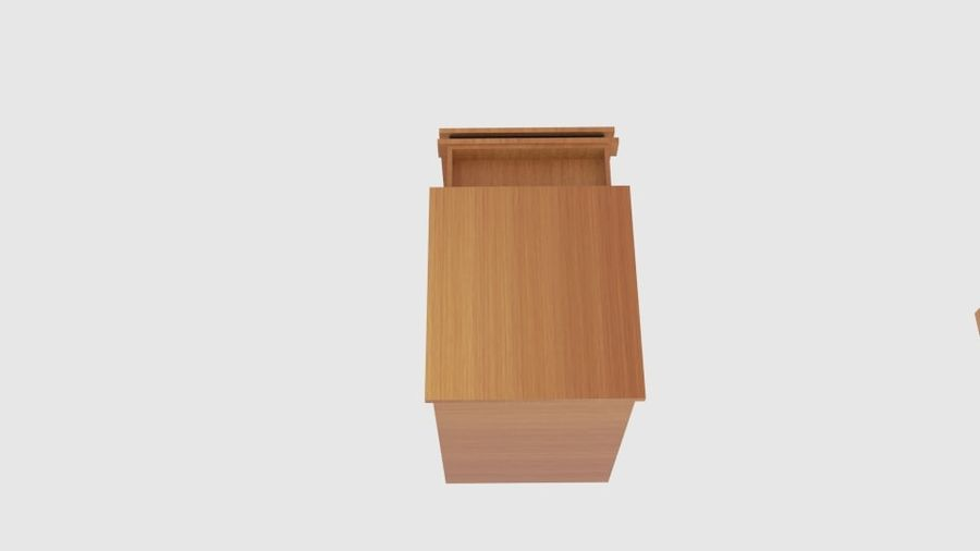 Filing Cabinet Drawer royalty-free 3d model - Preview no. 4