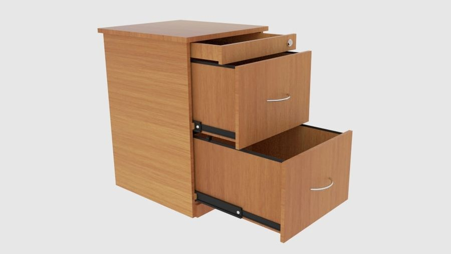 Filing Cabinet Drawer royalty-free 3d model - Preview no. 1