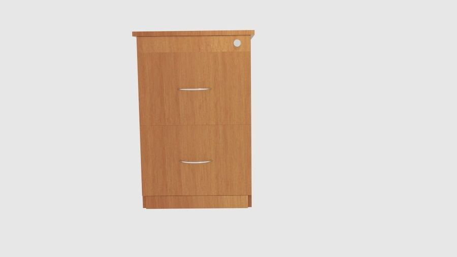 Filing Cabinet Drawer royalty-free 3d model - Preview no. 2