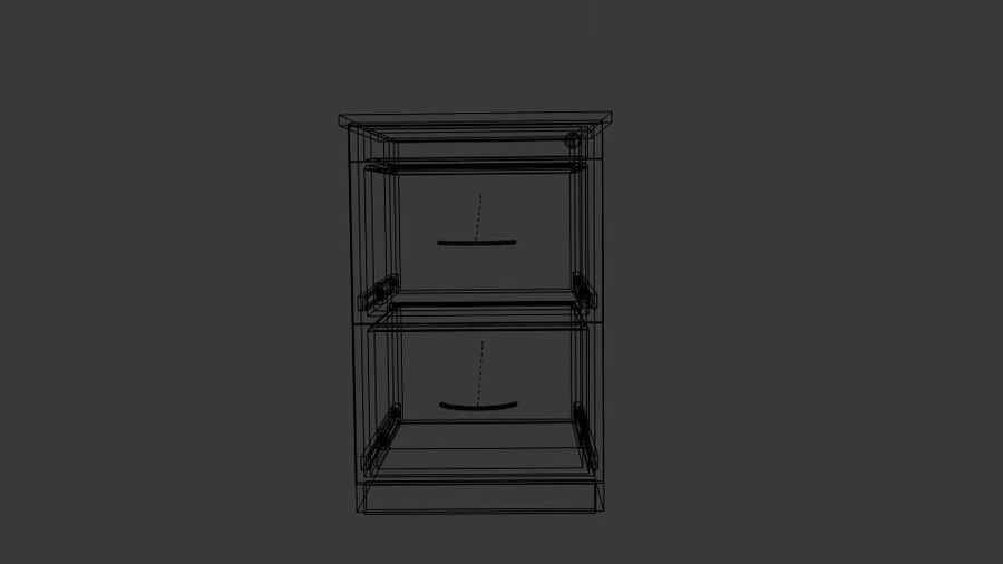 Filing Cabinet Drawer royalty-free 3d model - Preview no. 6