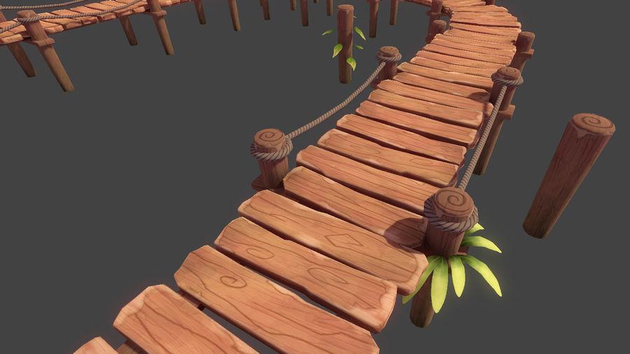 Toon Modular Bridge - Game Props royalty-free 3d model - Preview no. 1