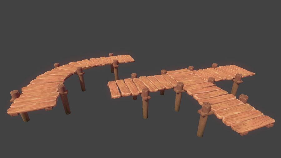 Toon Modular Bridge - Game Props royalty-free 3d model - Preview no. 5