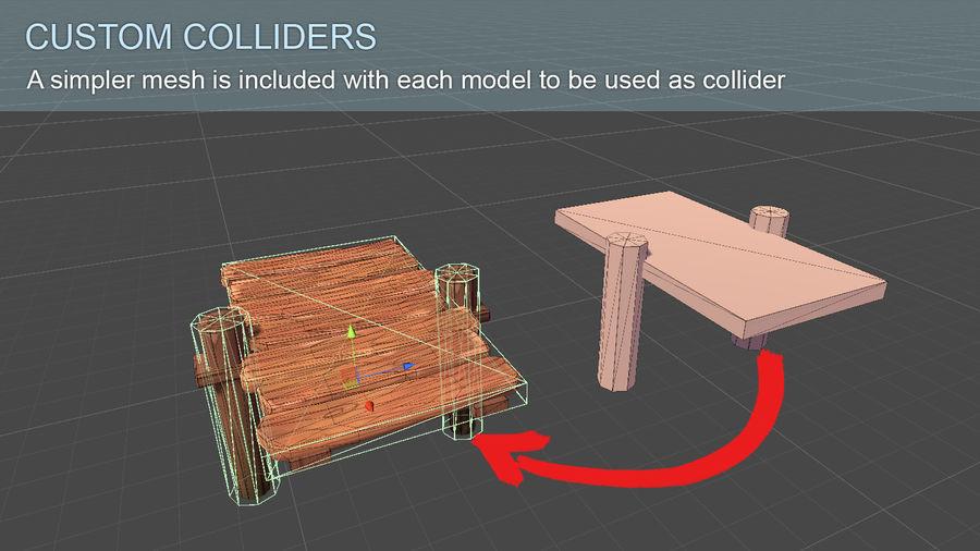 Toon Modular Bridge - Game Props royalty-free 3d model - Preview no. 7