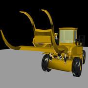 Tracteur forestier 3d model