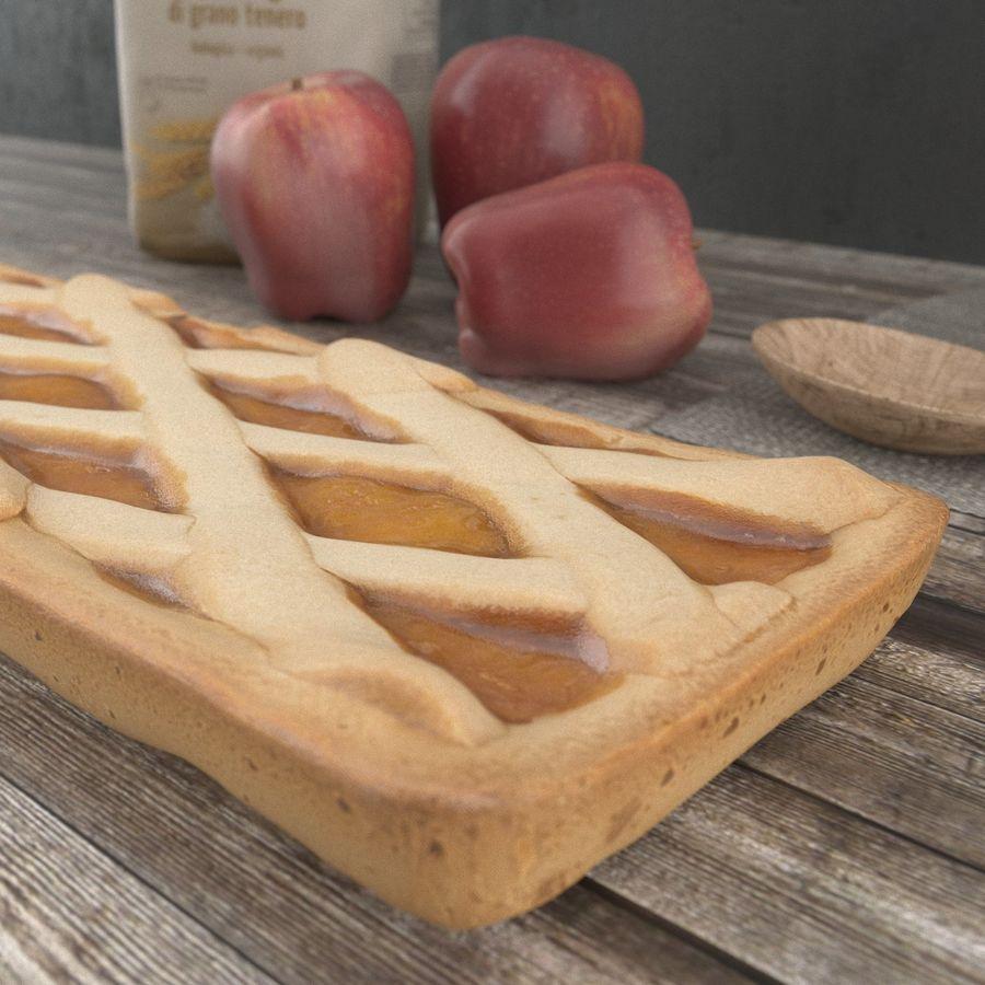 яблочный пирог royalty-free 3d model - Preview no. 3