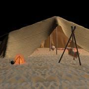 Árabes do deserto da barraca 3d model