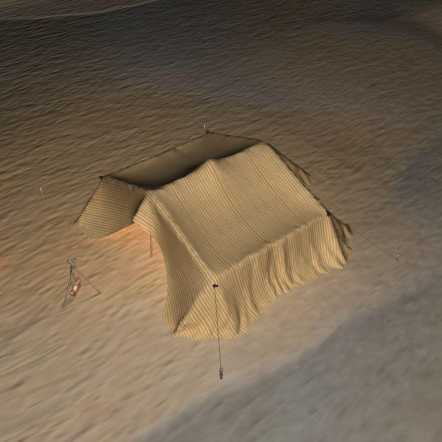 Tente des Arabes du désert royalty-free 3d model - Preview no. 5