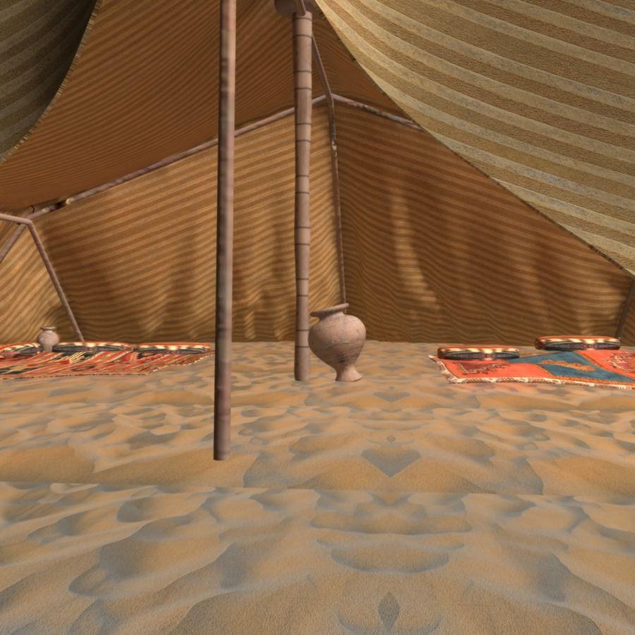 Tente des Arabes du désert royalty-free 3d model - Preview no. 7