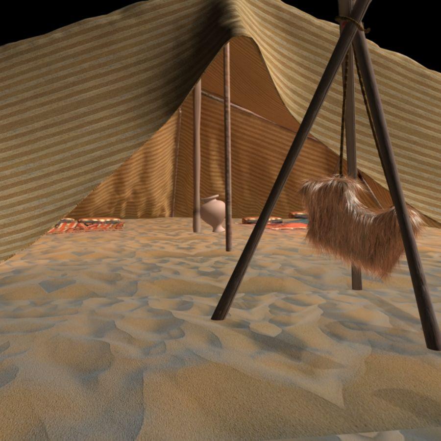 Tente des Arabes du désert royalty-free 3d model - Preview no. 2