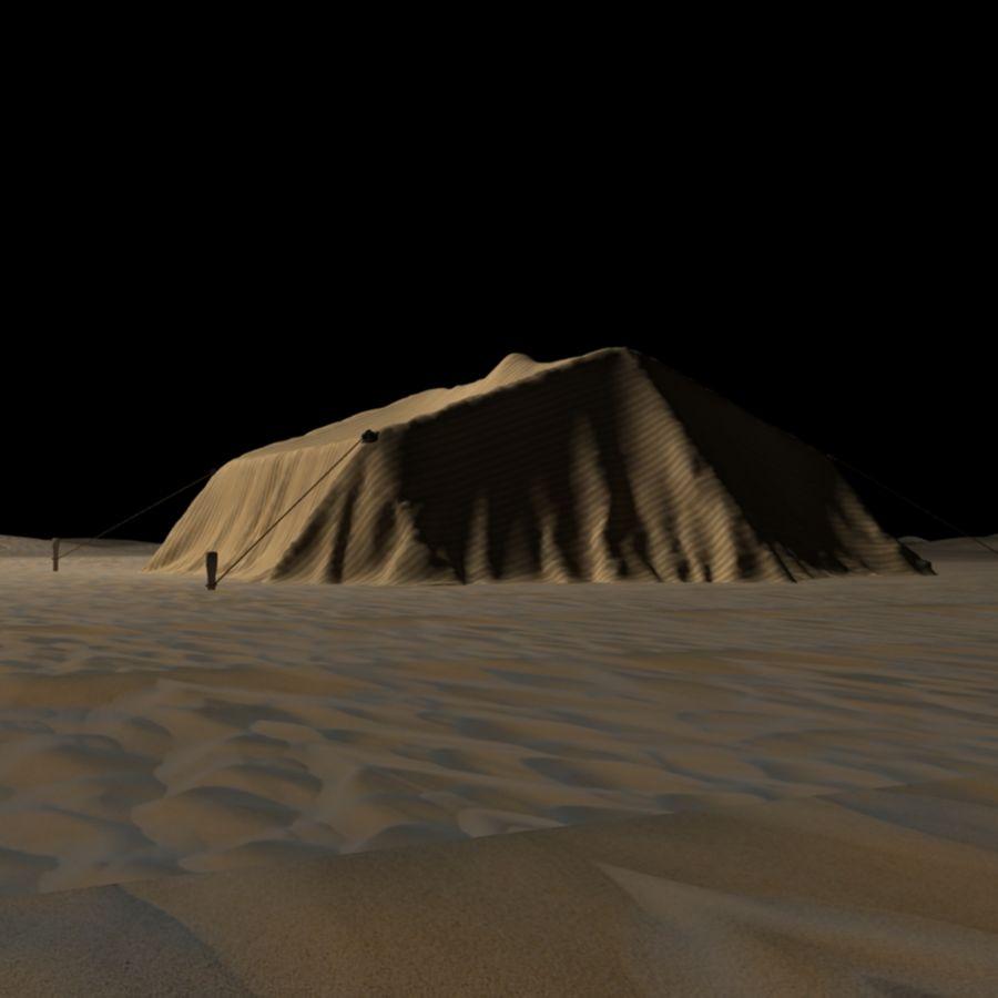 Tente des Arabes du désert royalty-free 3d model - Preview no. 6