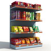 Chips de prateleiras de supermercado 3d model