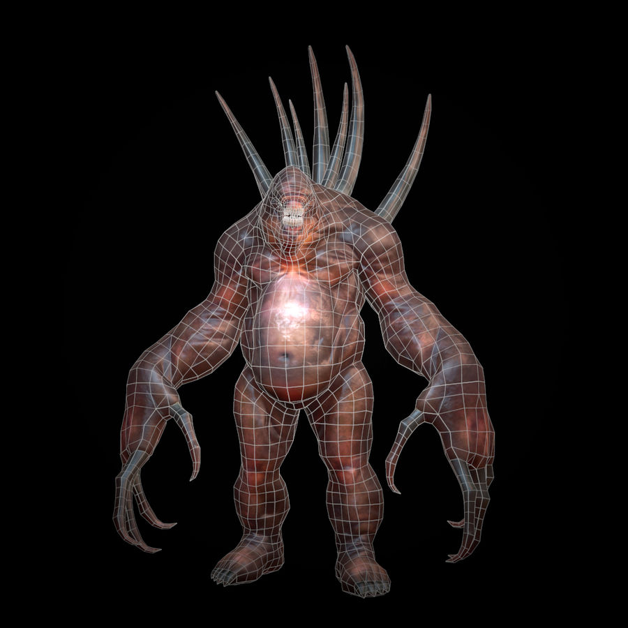 Creature Rock royalty-free 3d model - Preview no. 5