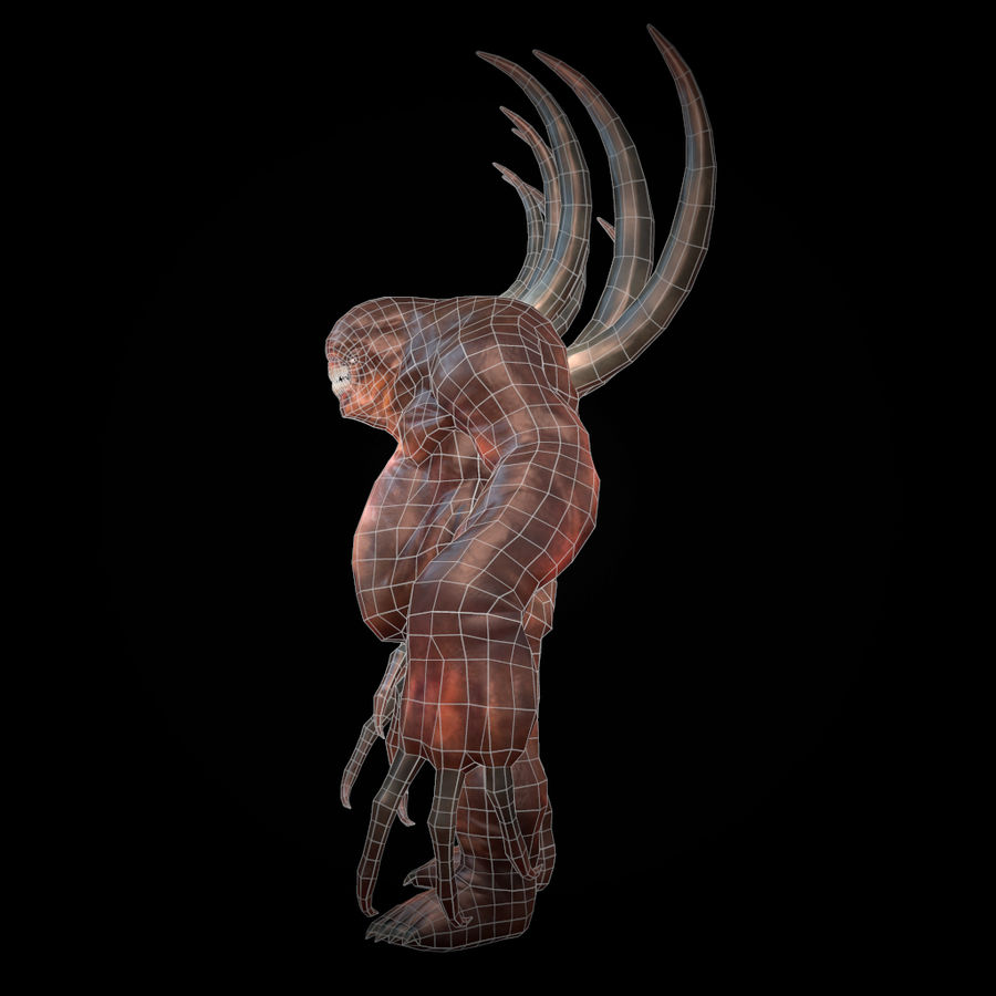 Creature Rock royalty-free 3d model - Preview no. 6