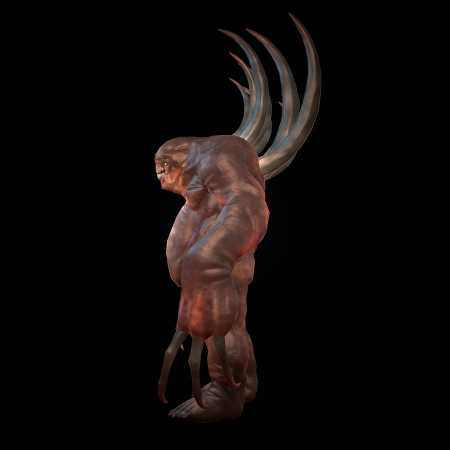 Creature Rock royalty-free 3d model - Preview no. 3