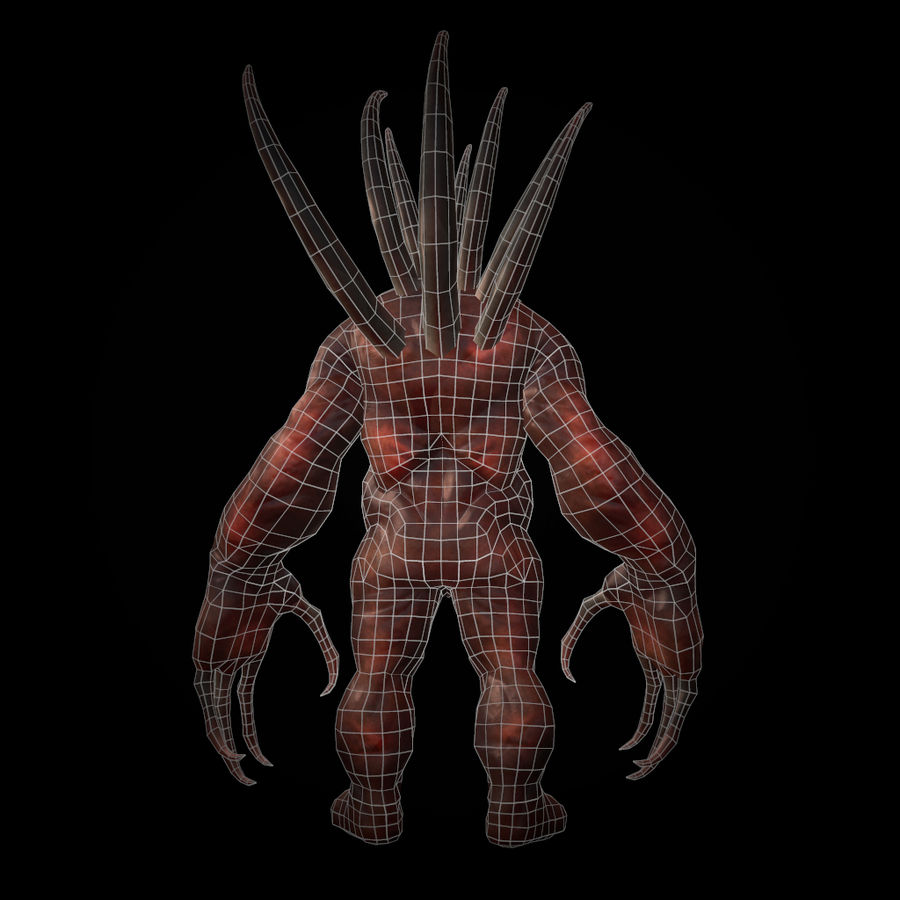 Creature Rock royalty-free 3d model - Preview no. 7
