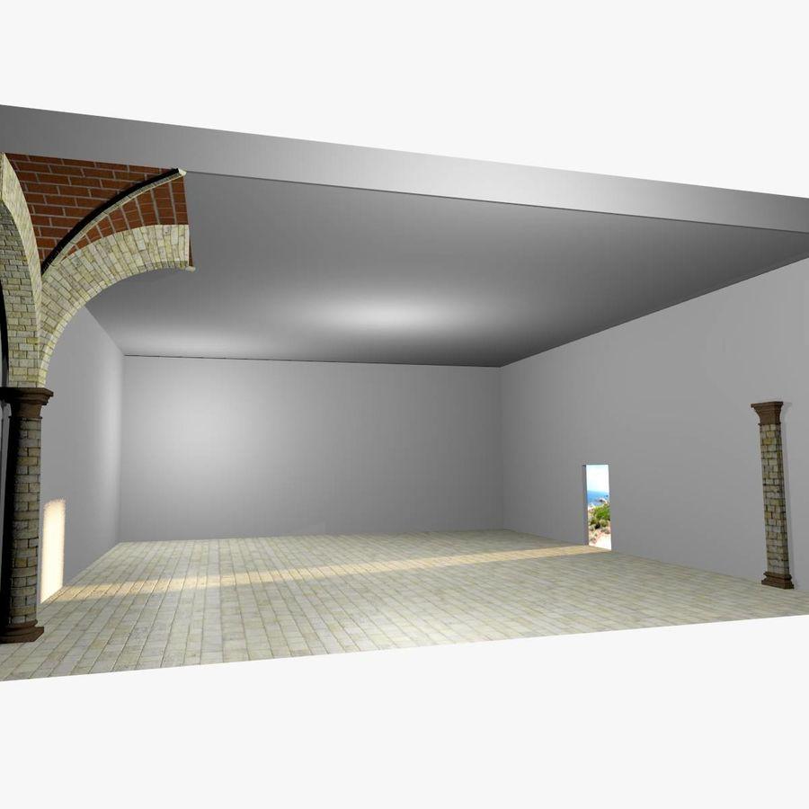 ヴォールティング2_5-ルーマニア語、750cm間隔、太いアーチと縁石 royalty-free 3d model - Preview no. 5