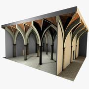 ヴォールティング4_5-ルネサンス、750cm間隔、厚いアーチと縁石 3d model