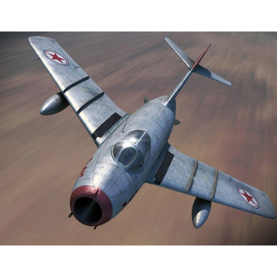 MiG 15 para Poser royalty-free 3d model - Preview no. 2