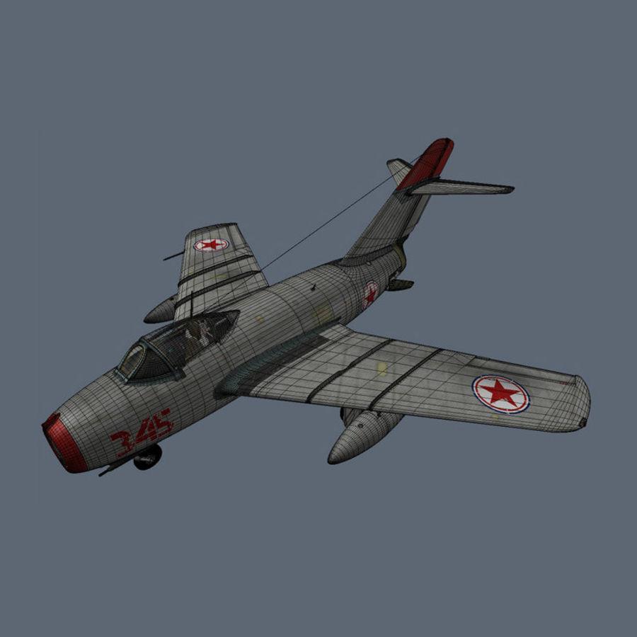 MiG 15 para Poser royalty-free 3d model - Preview no. 6