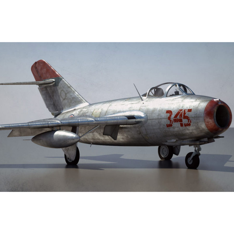 MiG 15 para Poser royalty-free 3d model - Preview no. 1