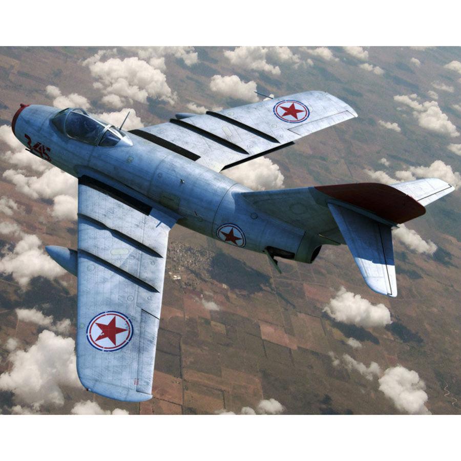 MiG 15 para Poser royalty-free 3d model - Preview no. 3