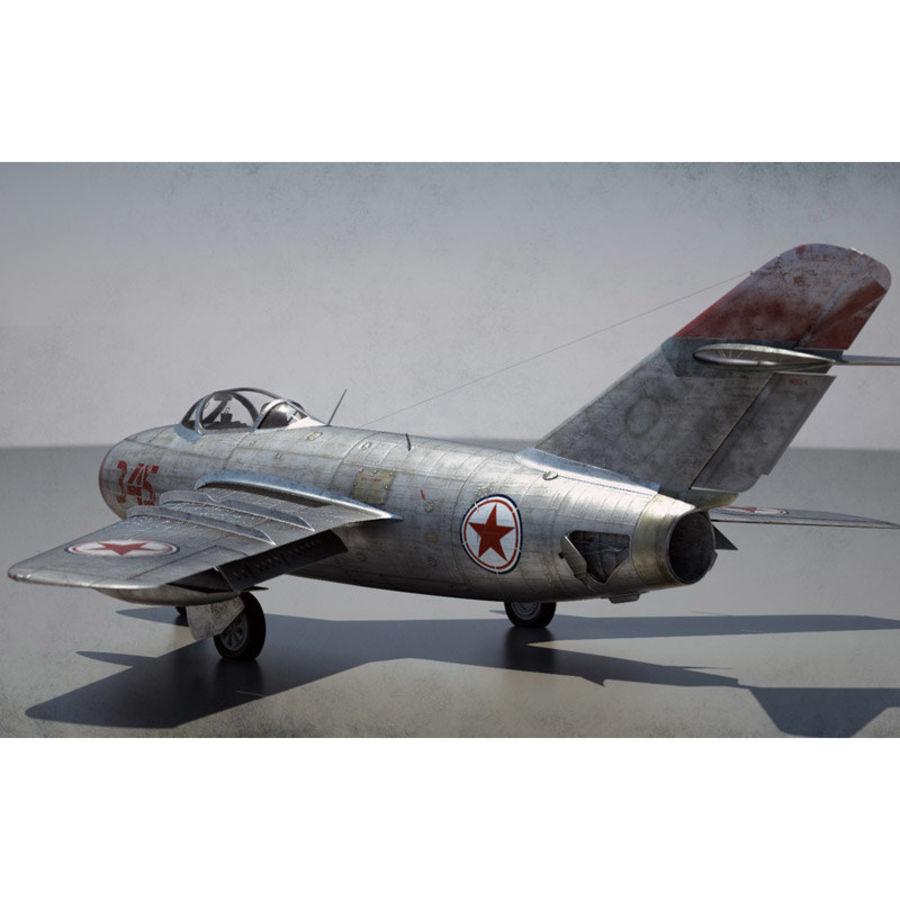 MiG 15 para Poser royalty-free 3d model - Preview no. 5