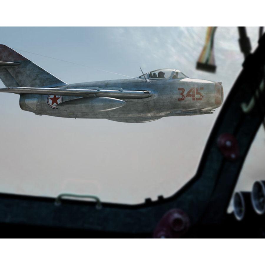 MiG 15 para Poser royalty-free 3d model - Preview no. 4