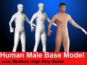 인간 남성 기본 모델 3d model