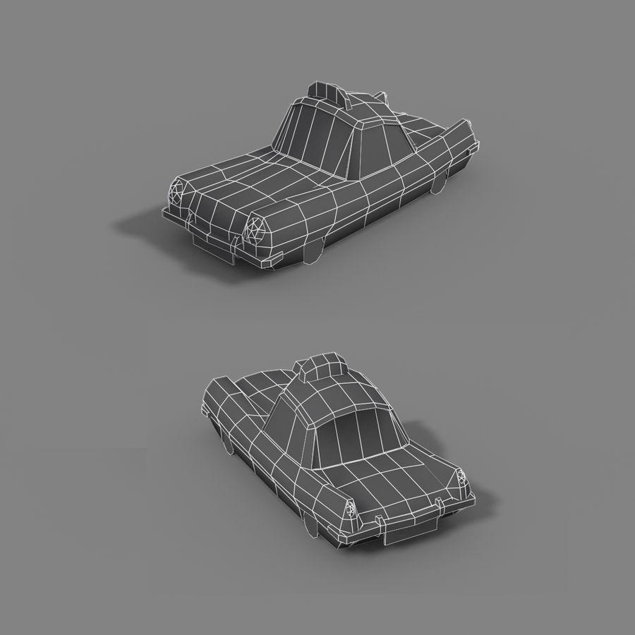 低ポリ漫画タクシー royalty-free 3d model - Preview no. 4