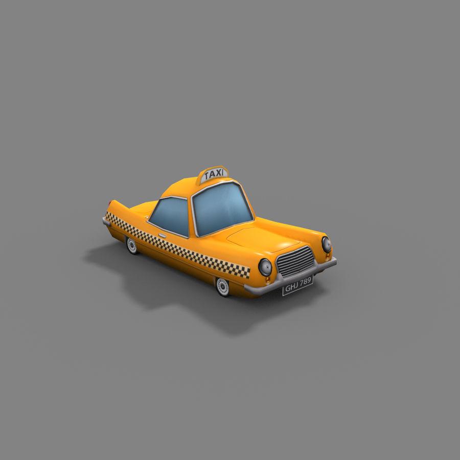 低ポリ漫画タクシー royalty-free 3d model - Preview no. 5