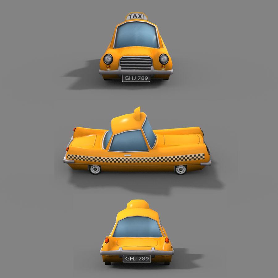 低ポリ漫画タクシー royalty-free 3d model - Preview no. 2