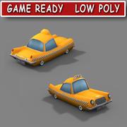 低ポリ漫画タクシー 3d model