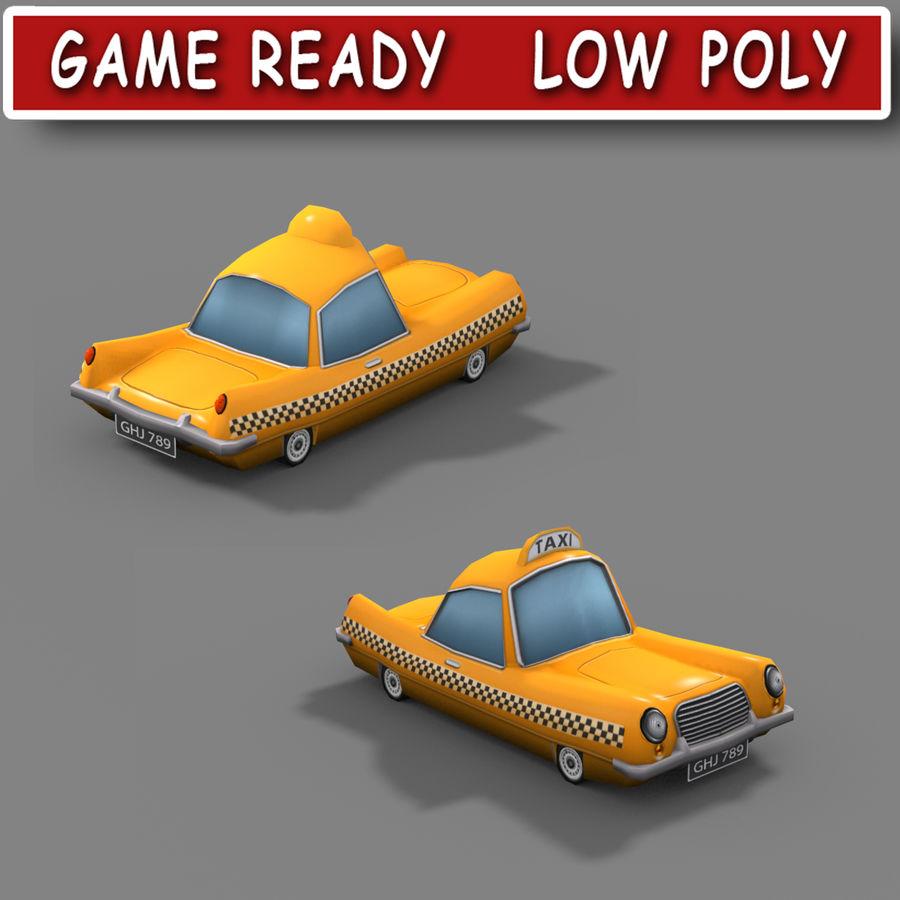 低ポリ漫画タクシー royalty-free 3d model - Preview no. 1