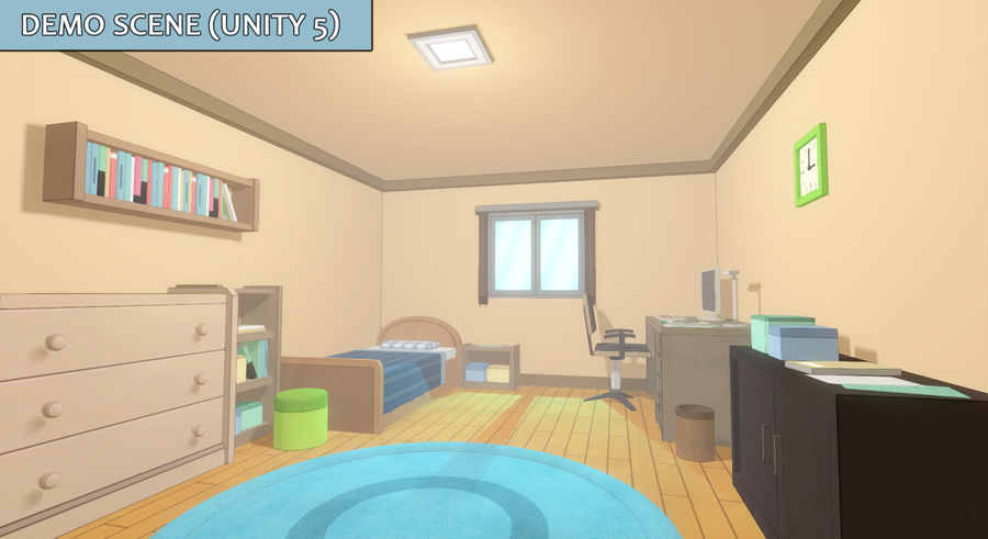 Anime Rooms royalty-free 3d model - Preview no. 3