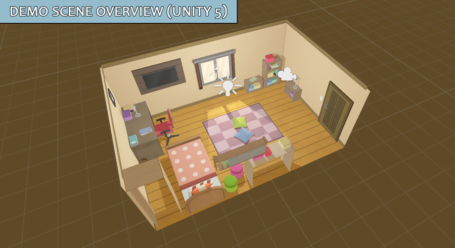 Anime Rooms royalty-free 3d model - Preview no. 4