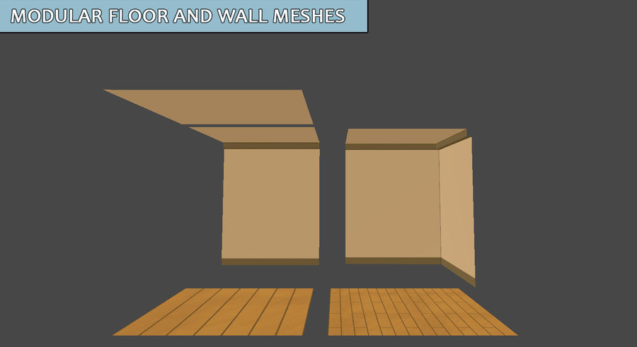 Anime Rooms royalty-free 3d model - Preview no. 5