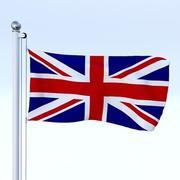 生气的英国国旗 3d model