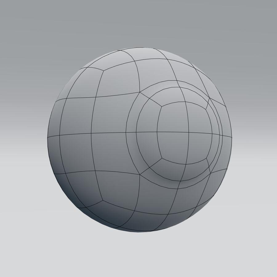 인간의 눈 royalty-free 3d model - Preview no. 15