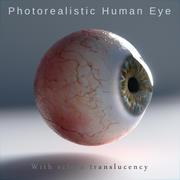 Человеческий глаз фотореалистичный 3d model