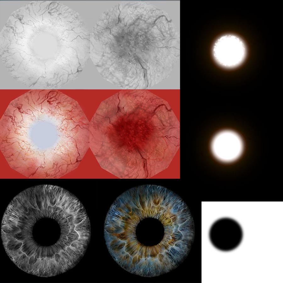 인간의 눈 royalty-free 3d model - Preview no. 14