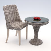 rattan furniture 3d model