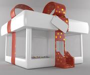 Uppblåsbar julklapp 3d model