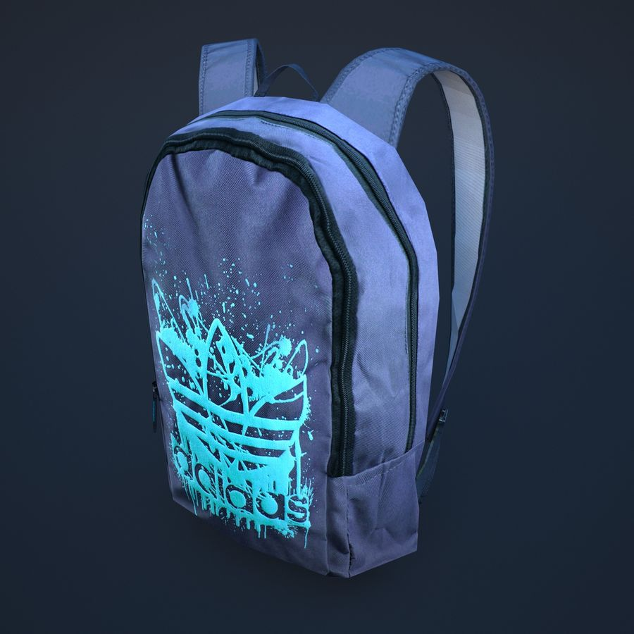 backpack royalty-free 3d model - Preview no. 1
