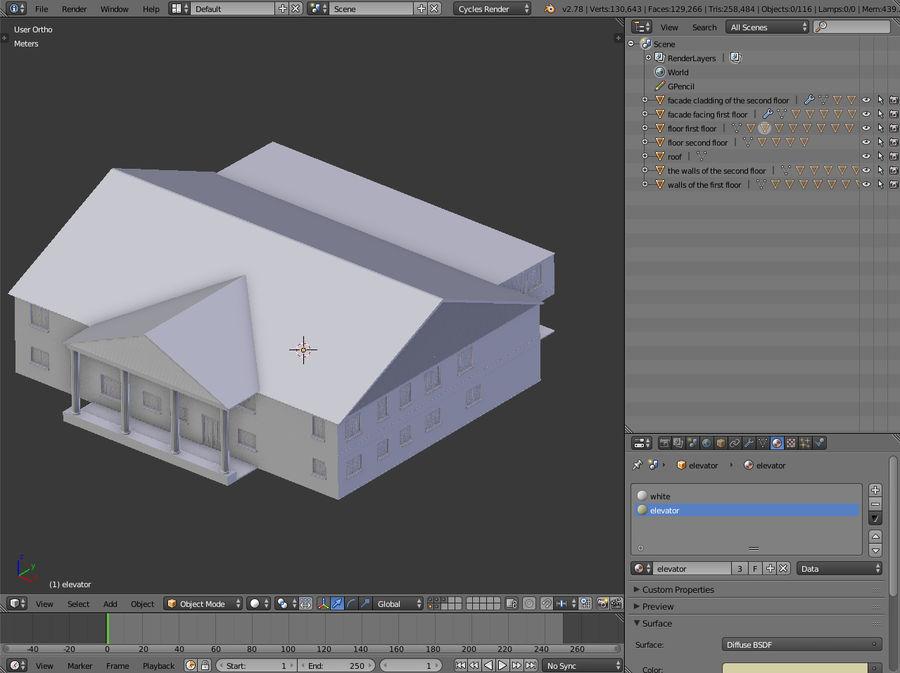 bâtiment public royalty-free 3d model - Preview no. 11