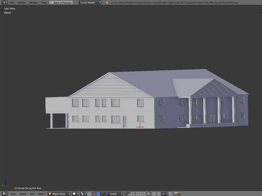 bâtiment public royalty-free 3d model - Preview no. 15