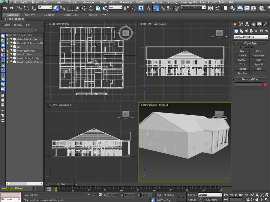 bâtiment public royalty-free 3d model - Preview no. 16