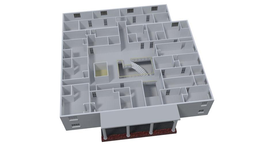 bâtiment public royalty-free 3d model - Preview no. 9