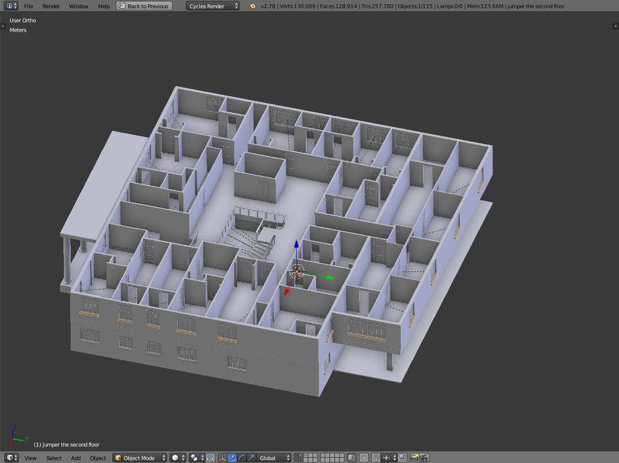 bâtiment public royalty-free 3d model - Preview no. 13