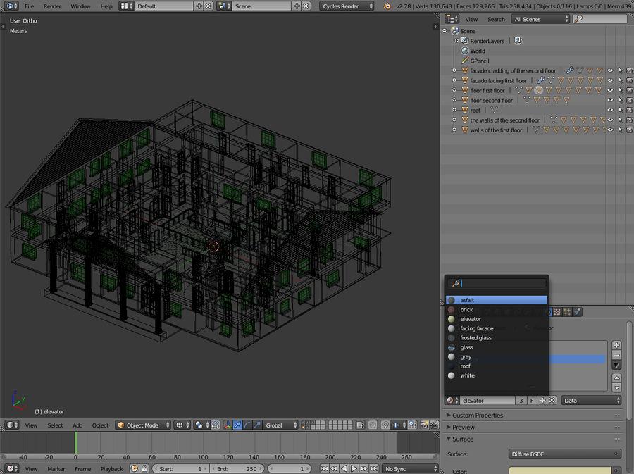 bâtiment public royalty-free 3d model - Preview no. 10