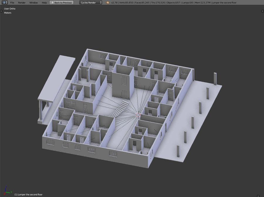 bâtiment public royalty-free 3d model - Preview no. 12
